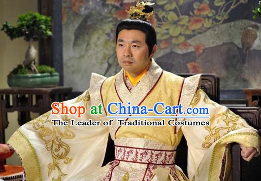 Chinese Song Dynasty Emperor Clothing Ancient Imperator Embroidered Replica Costume for Men