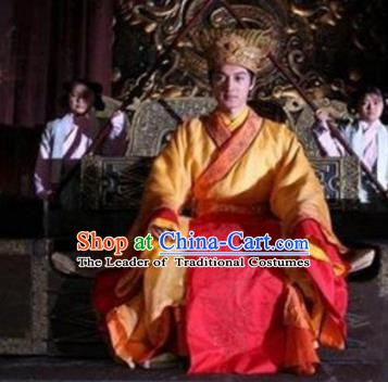 Chinese Ancient Song Dynasty Guang Emperor Zhao Dun Replica Costume for Men