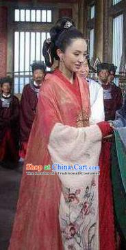 Chinese Ancient Song Dynasty Imperial Consort Li of Zhao Heng Replica Costume for Women