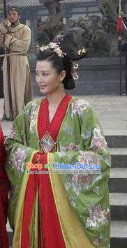 Chinese Ancient Song Dynasty Queen Imperial Consort De Replica Costume for Women