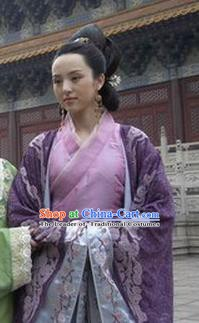 Chinese Ancient Song Dynasty Imperial Consort Li Replica Costume for Women