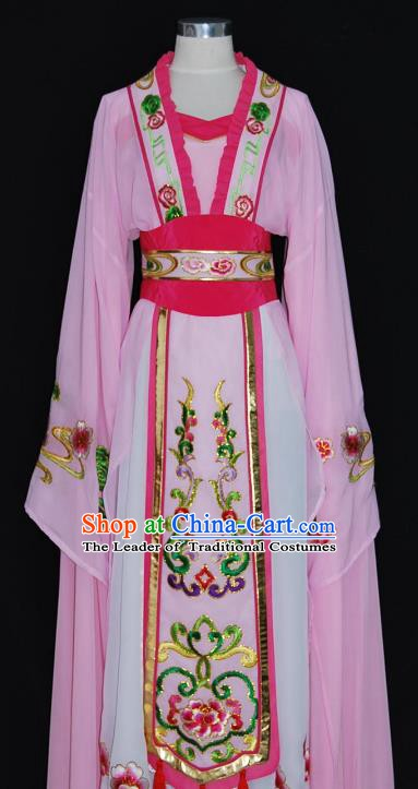 China Traditional Beijing Opera Actress Costume Chinese Shaoxing Opera Huadan Embroidered Dress