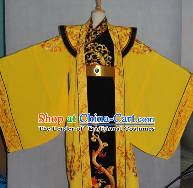 China Traditional Beijing Opera Emperor Costume Chinese Peking Opera Kaiser Embroidered Clothing for Adults