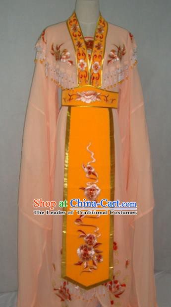 China Traditional Beijing Opera Embroidered Orange Dress Chinese Peking Opera Actress Costume