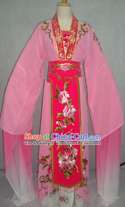 Traditional China Beijing Opera Embroidered Pink Dress Chinese Peking Opera Actress Costume