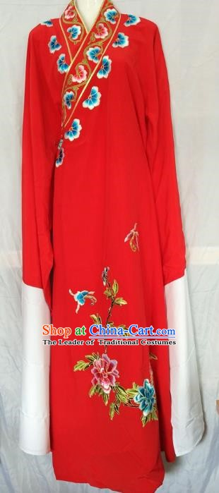 China Beijing Opera Niche Embroidered Red Robe Chinese Traditional Peking Opera Scholar Costume for Adults