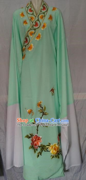 China Beijing Opera Niche Embroidered Green Robe Chinese Traditional Peking Opera Scholar Costume for Adults