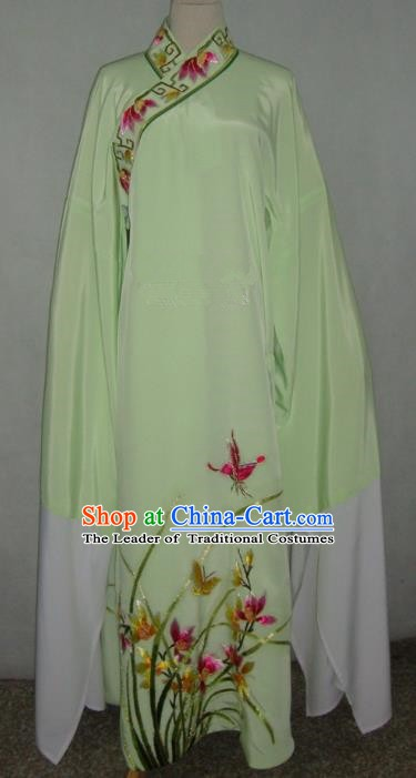 China Beijing Opera Niche Embroidered Orchid Green Robe Chinese Traditional Peking Opera Scholar Costume for Adults