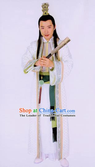Traditional Chinese Tang Dynasty Prince Li Quan Hanfu Replica Costume for Men