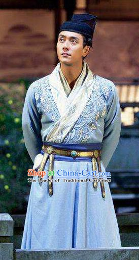 Traditional Chinese Tang Dynasty Nobility Childe Detective Di Renjie Replica Costume for Men