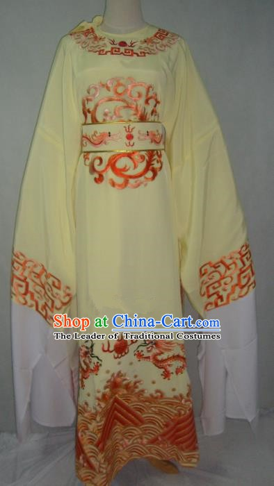 Traditional Chinese Beijing Opera Niche Costume Beijing Opera Embroidered Yellow Robe for Adults