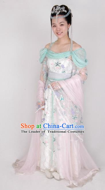 Chinese Ancient Tang Dynasty Princess Dress Embroidered Replica Costume for Women