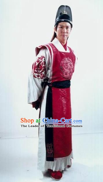 Chinese Traditional Tang Dynasty Princess Husband Guo Ai Replica Costume for Men