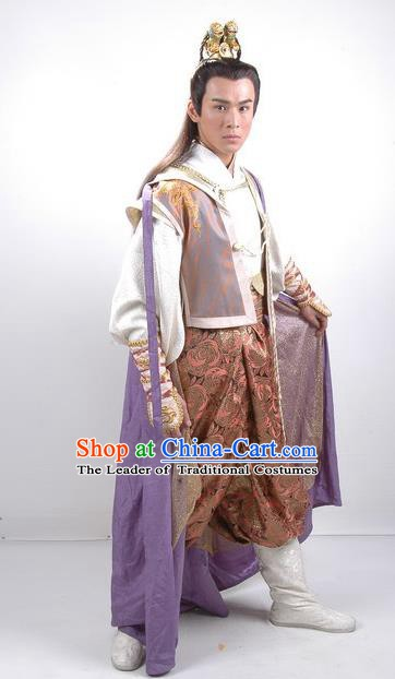 Chinese Traditional Tang Dynasty Swordsman Hanfu Knight Replica Costume for Men