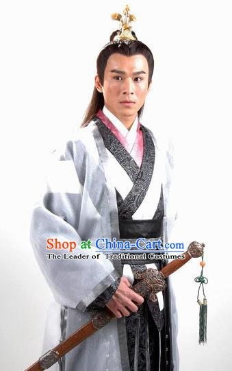 Traditional Chinese Tang Dynasty Youxia Knight-errant Swordsman Hanfu Costume for Men