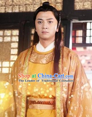 Traditional Chinese Tang Dynasty Prince Swordsman Replica Costume for Men