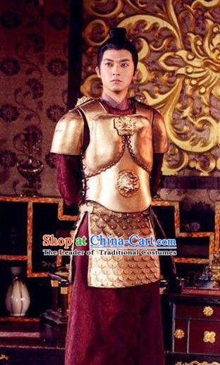Traditional Chinese Tang Dynasty Prince General Li Chongjun Replica Costume for Men