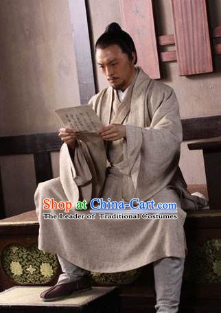 Traditional Chinese Tang Dynasty Minister Detective Di Renjie Replica Costume for Men