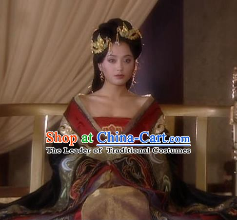 Chinese Tang Dynasty Imperial Consort Hanfu Dress Replica Costume for Women