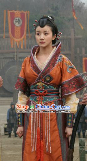 Chinese Sui Dynasty Imperial Princess Yue Rong Hanfu Dress Replica Costume for Women