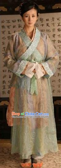 Chinese Sui Dynasty Palace Princess Yue Rong Hanfu Dress Replica Costume for Women