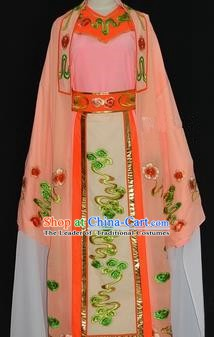 Traditional Chinese Beijing Opera Niche Costume Scholar Embroidery Orange Robe for Adults
