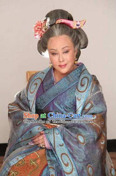 Ancient Chinese Tang Dynasty Empress Wu Meiniang Hanfu Dress Replica Costume for Women