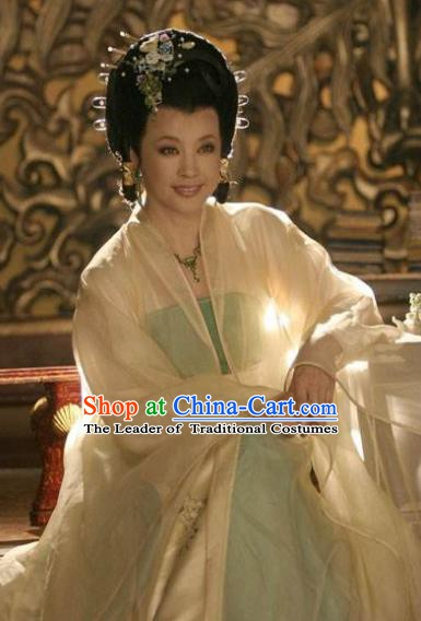 Ancient Chinese Tang Dynasty Queen Wu Meiniang Hanfu Dress Replica Costume for Women