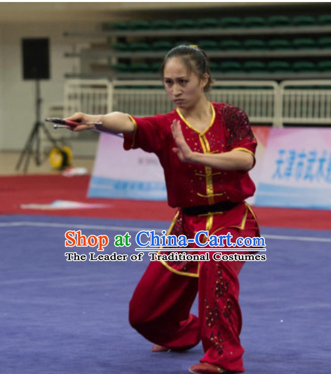 Top Southern Fist Kung Fu Uniforms  Tai Chi Uniforms Martial Arts Blouse Pants Kung Fu Suits Kungfu Outfit Professional Kung Fu Clothing Complete Set for Women