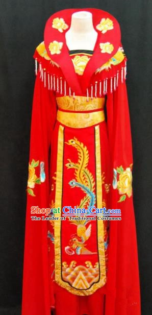 Traditional Chinese Beijing Opera Imperial Empress Dress Peking Opera Diva Embroidered Red Costume