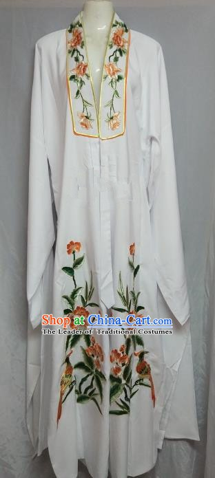 Traditional Chinese Beijing Opera Niche White Cape Peking Opera Young Men Costume for Adults