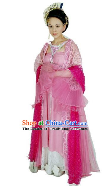 Ancient Chinese Tang Dynasty Imperial Consort Bao Embroidered Hanfu Dress Replica Costume for Women