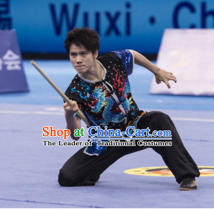 Supreme Custom Made Competition Uniforms Kung Fu Suit Kung Fu Uniform Chinese Jacket Taiji Clothes Dress Dresses Kung Fu Clothing Embroidered Tai Chi Suits Custom Kung Fu Embroidery Uniforms