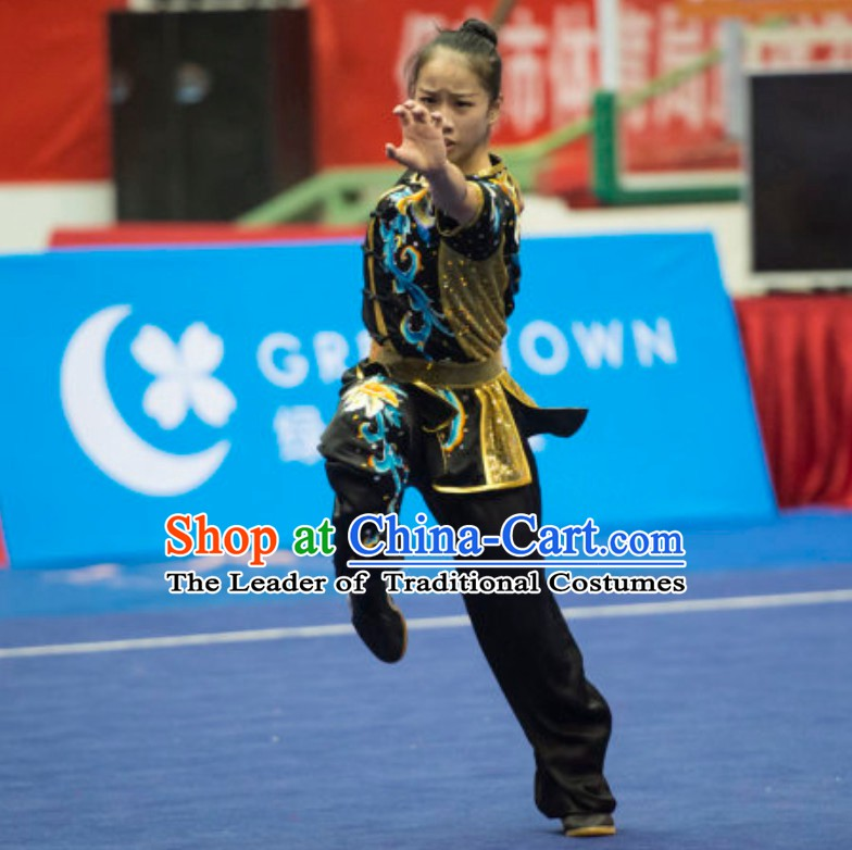 Supreme Custommade Nanquan Competition Uniforms Kung Fu Suit Kung Fu Uniform Chinese Jacket Taiji Clothes Dress Dresses Kung Fu Clothing Embroidered Tai Chi Suits Custom Kung Fu Embroidery Uniforms