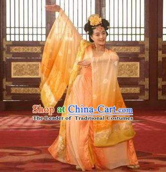 Ancient Chinese Tang Dynasty Consort Yang Hanfu Dance Dress Palace Lady Replica Costume for Women