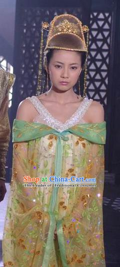 Chinese Ancient Tang Dynasty Crown Princess of Li Jiancheng Hanfu Dress Historical Costume for Women