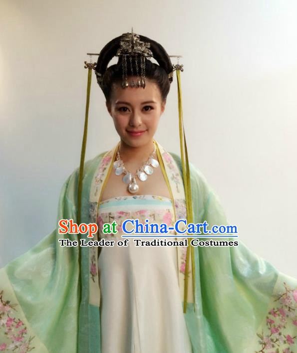 Chinese Ancient Tang Dynasty Aristocratic Lady Hanfu Dress Princess Historical Costume for Women