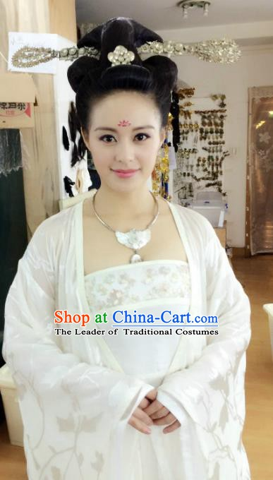 Chinese Ancient Tang Dynasty Palace Princess Hanfu Dress Historical Costume for Women