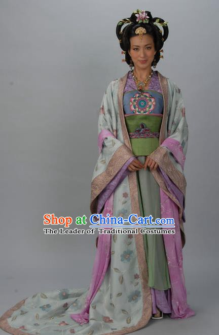 Chinese Ancient Tang Dynasty Imperial Consort Wei of Li Xian Hanfu Dress Historical Costume for Women