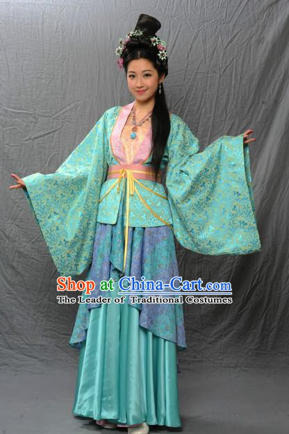 Chinese Ancient Tang Dynasty Female Dancer Hanfu Dress Historical Costume for Women