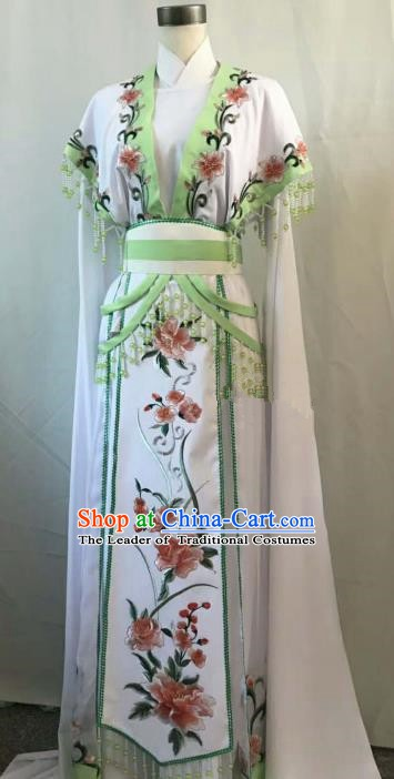 Top Grade Chinese Beijing Opera Diva Dress China Peking Opera Princess Embroidered Flowers Costume