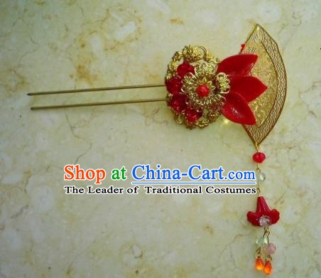 Chinese Ancient Hair Accessories Hanfu Hairpins Butterfly Golden Step Shake for Women