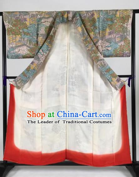 Japanese Ancient Male Palace Kimono Costume Traditional Wafuku Hakama Yukata Robe for Men