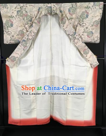 Japanese Samurai Costume Palace Kimonos Traditional Wafuku Hakama Yukata Robe for Men