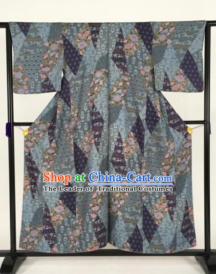 Japanese Samurai Palace Kimonos Traditional Wafuku Hakama Yukata Robe Costume for Men