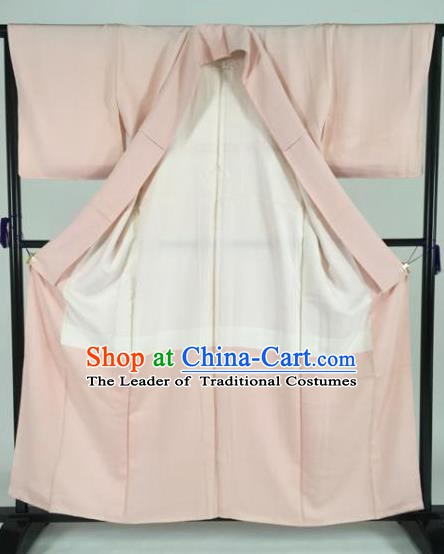 Japan Traditional Kimonos Pink Furisode Kimono Ancient Yukata Dress Formal Costume for Women