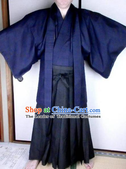 Japanese Samurai Garment Kimono Male Yukata Traditional Wafuku Hakama Haori Costume for Men