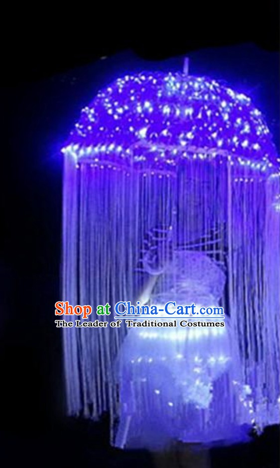 LED Umbrella LED Light Umbrella LED Stage Performance Dancing Dance Props and Costumes Complete Set