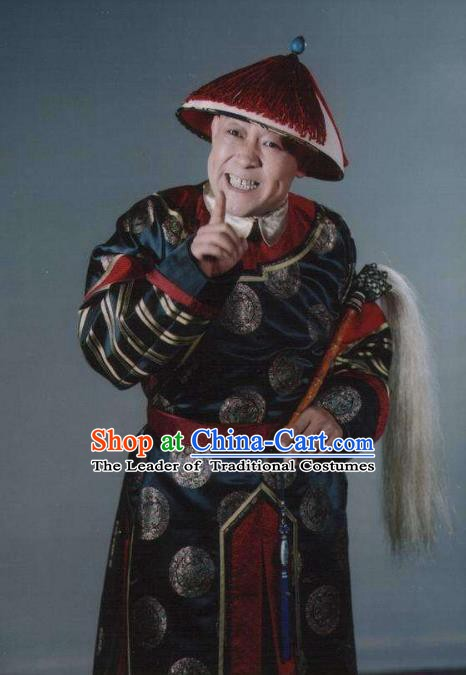 Traditional Chinese Ancient Costume China Qing Dynasty Palace Eunuch Clothing for Men