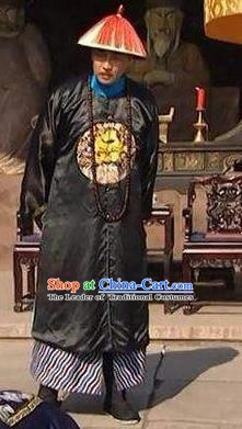 Chinese Traditional Historical Costume China Qing Dynasty Prince Yong Embroidered Clothing